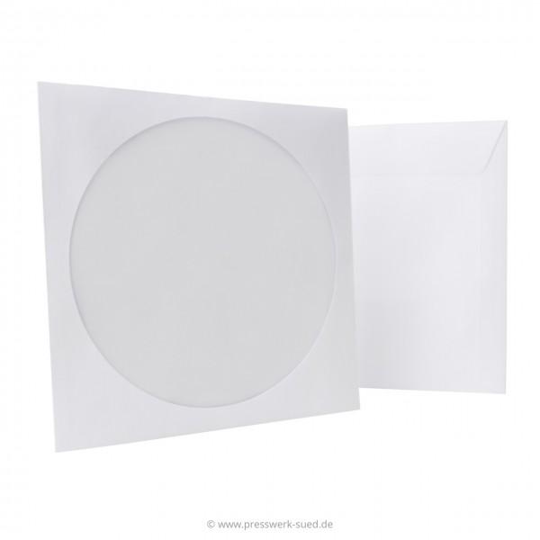 Papierfenstertasche mit selbstklebender Lasche