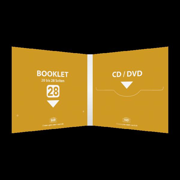 Digifile 4-seitig | 1 CD-Schlitz rechts - 1 Booklet-Schlitz links (für 20 bis 28-seitiges Booklet)
