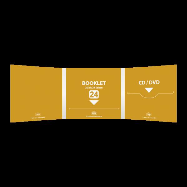 Digifile 6-seitig | 1 CD-Schlitz rechts - 1 Booklet-Schlitz mitte (für bis zu 24-seitiges Booklet)