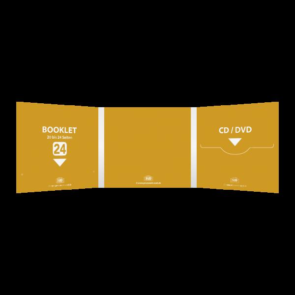 Digifile 6-seitig | 1 CD-Schlitz rechts - 1 Booklet-Schlitz links (für bis zu 24-seitiges Booklet)