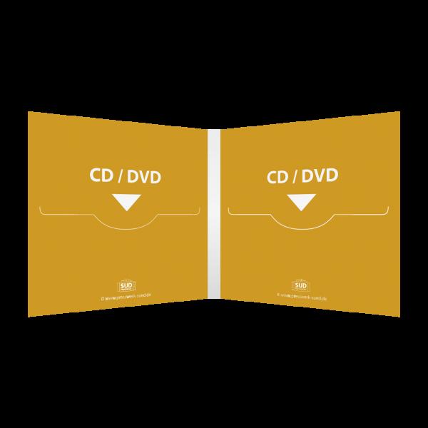 Digifile 4-seitig | 2 CD-Schlitz rechts & links (für 2 CDs oder DVDs)