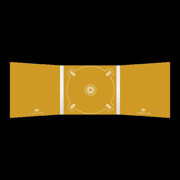 Digipack 6-seitig | 1 CD-Tray (mitte) für 1 CD oder DVD