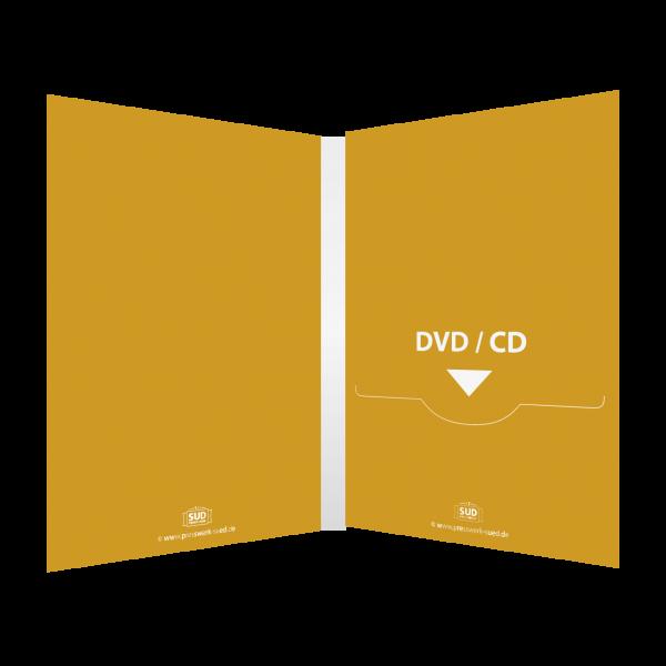 DVD Digifile 4-seitig   1 Schlitz (rechts) für DVD oder CD