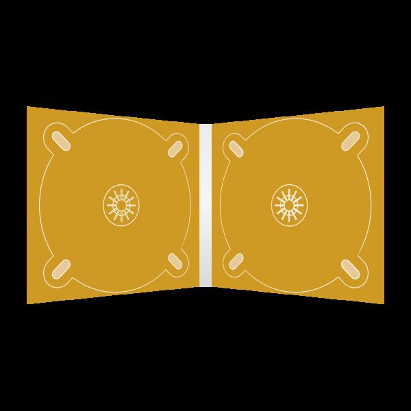 Digipack 4-seitig | 2 CD-Trays (links & rechts) für CD oder DVD