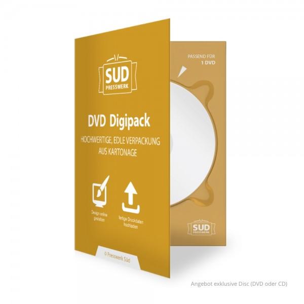 DVD Digipack 4-seitig farbig bedruckt | 1 Tray (rechts) für CD oder DVD - Beispiel