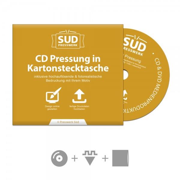 Sparpaket CD Pressung in Kartonstecktasche inkl. Bedruckung, Glasmastering & Versand (Aktionsangebot