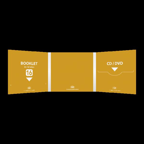 Digifile 6-seitig | 1 CD-Schlitz rechts - 1 Booklet-Schlitz links (für bis zu 16-seitiges Booklet)