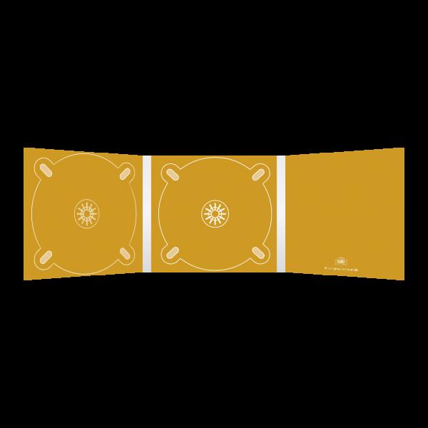 Digipack 6-seitig | 2 CD-Trays (links & mitte) für 2 CDs oder DVDs