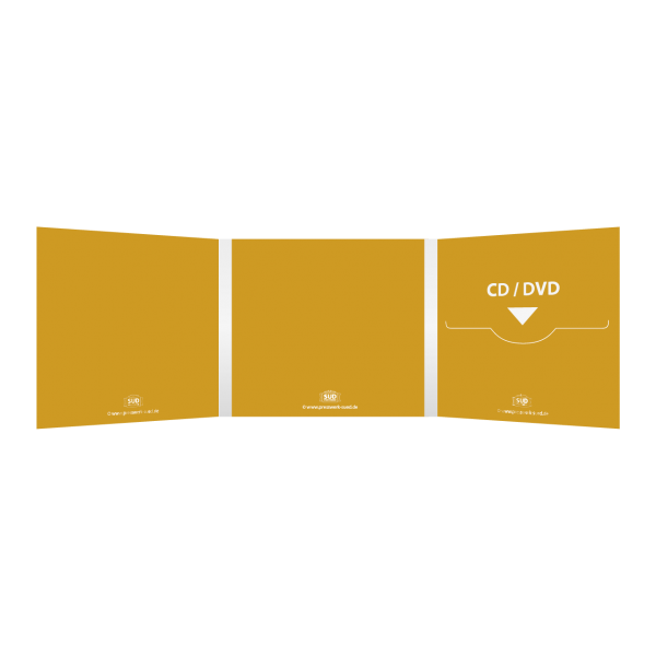 Digifile 6-seitig | 1 CD-Schlitz rechts (für 1 CD oder DVD)
