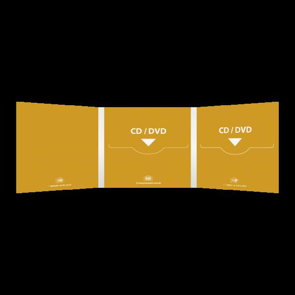 Digifile 6-seitig | 2 CD-Schlitz mitte & rechts (für 2 CDs oder DVDs)